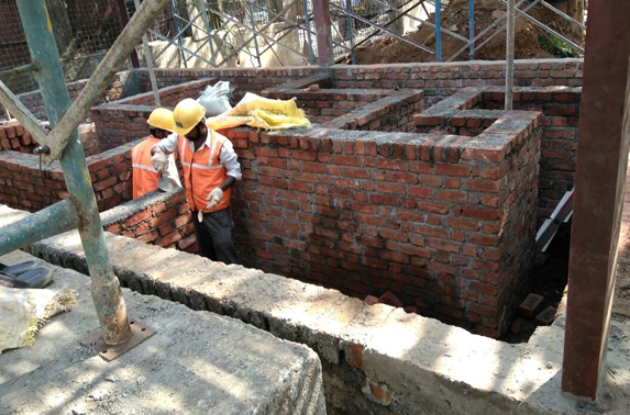 Reliance Substation shifting work in progress at MIDC ESIC area