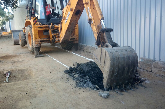 Excavation Started for Storm water Drain Diversion at Seepz Station