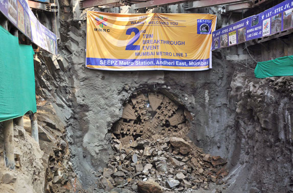Wainganga-2 from PKG 7 makes a  second breakthrough at SEEPZ station after tunneling a distance of 568 mtrs over 125 days