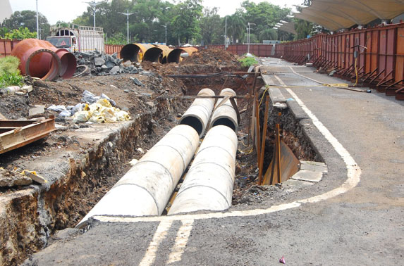 900 mm Storm water drain at CSIA Domestic Station