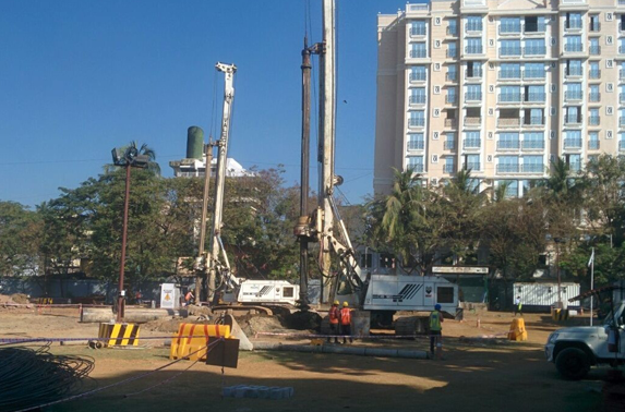 Secant Pile (P62 & S12) work is in Progress at Pali Ground