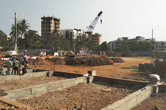 Site Office Plinth Beam work is in progress at Pali Ground