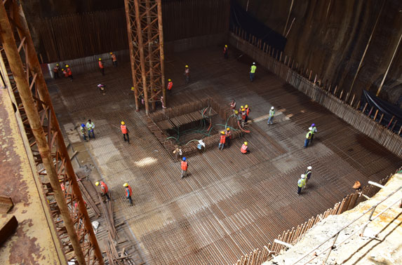Base slab reinforcement fixing - Mumbai Central