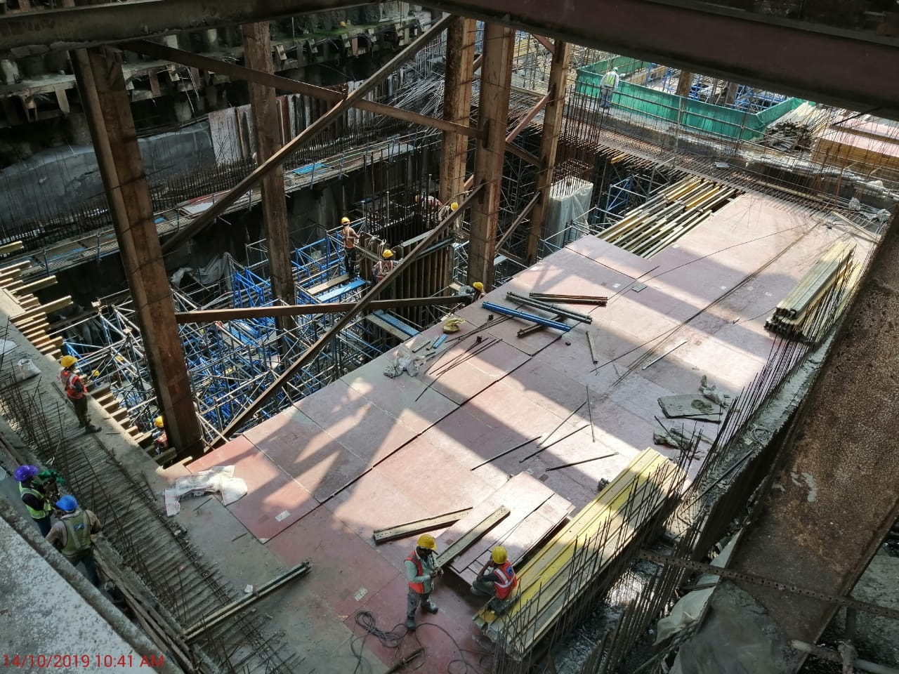 Concourse Slab Progress in Grid 3-4 at Vidhan Bhavan Station
