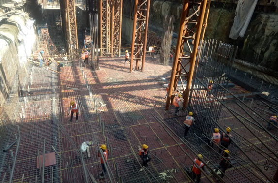 Concourse Slab Progress in Grid 2-4 at Cuffe Parade Station