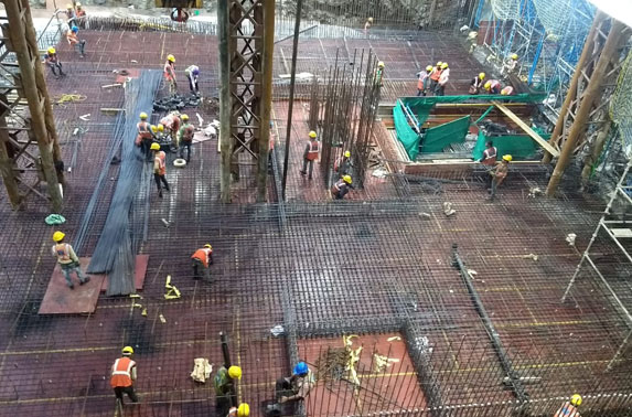 Concourse Slab Progress in Grid 6-8 at Churchgate Station