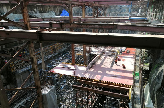 Concourse Staging and Shuttering Progress in Grid 4-6 at Vidhan Bhavan Station