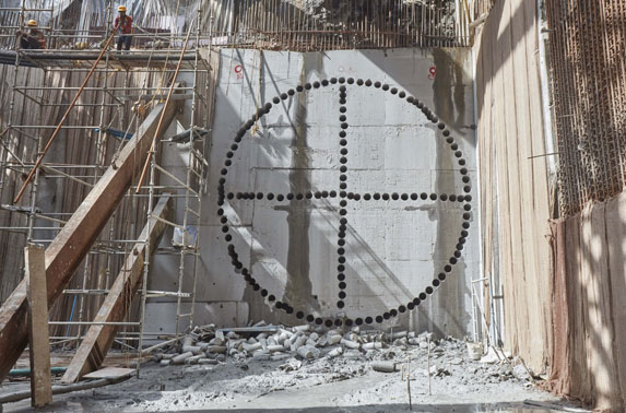 Core Cutting for TBM1 Breakthrough at Churchgate Station
