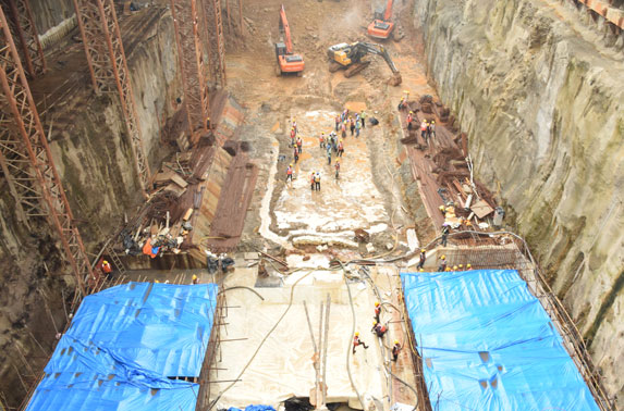 Dharavi Excavation and Base Slab Work