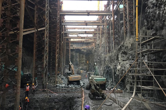 Excavation Progress in Grid 20-24 at Churchgate Station