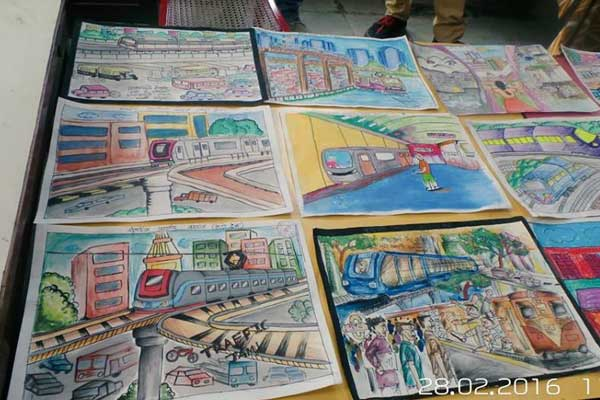 Kudos to such an awestruck creativity by the kids for the Drawing Competition.