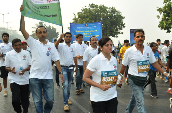 MD, MMRC leading the team during Dream Run.