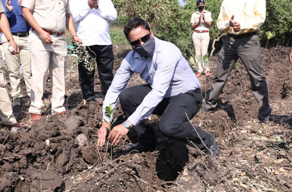 Compensatory mangrove plantation with the help of Forest Department aim to plant 8,888 mangroves for the 108 mangroves removed for construction of the BKC & Dharavi Metro stations.