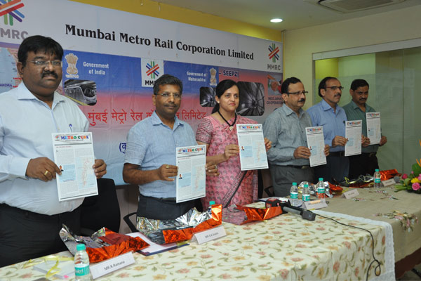 "Launch of Newsletter ""METROCUBE"" by Mrs. Ashwini Bhide, MD, MMRC"