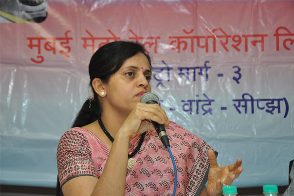 Mrs. Ashwini Bhide, MD, MMRC interacting with the journalists during press confrence