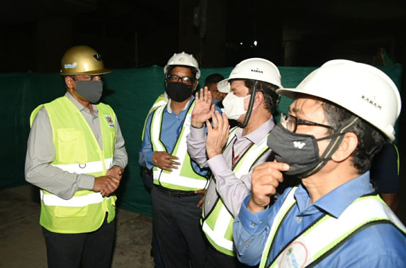 The 36th breakthrough at CSMIA T1 Metro station is successfully completed & witnessed by Alkesh Kumar Sharma, MD Kochi Metro, Ranjit Singh Deol, MD, MMRC and Subodh Gupta, Dir. (Proj), MMRC
