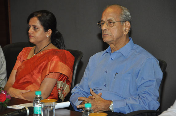 Mrs. Ashwini Bhide, MD MMRC with Dr. E. Sreedharan