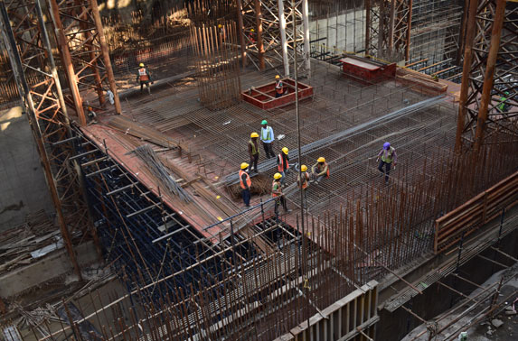 Mumbai Central - Concourse Slab reinforcement work in Progress