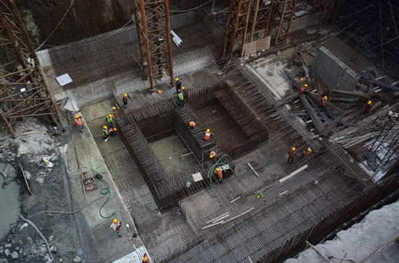 Mumbai Central - Base Slab Reinforcement Work in Progress