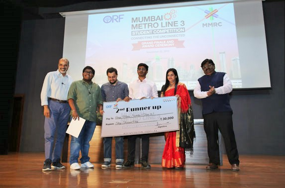 The second runner up prize was bagged by Rachna Sansad Academy of Architecture (Unaided)