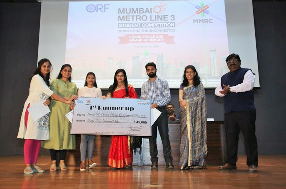 The first runner up prize was bagged by Pillai College of Architecture