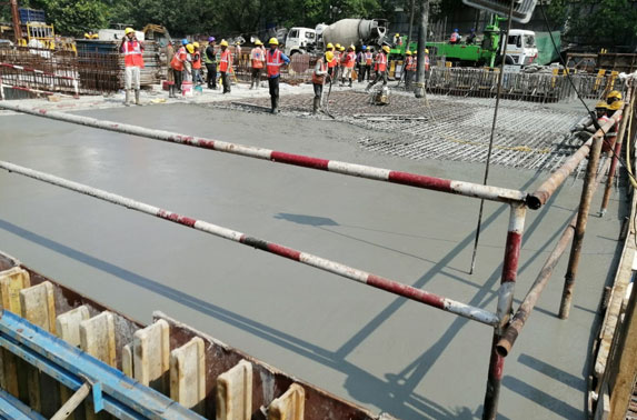 Roof Slab Progress in Grid 7-8 at Vidhan Bhavan Station