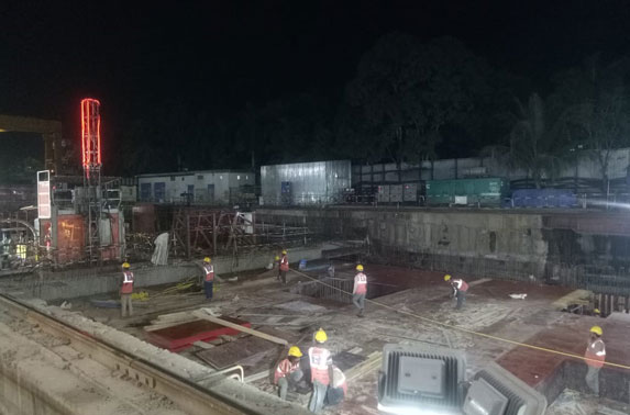 Roof Slab Shuttering Progress in Grid C6-C3 at Cuffe Parade Station