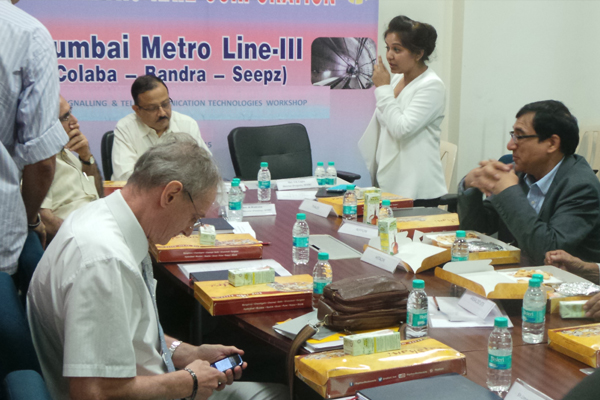 The Mumbai Metro Rail Corporation (MMRC) interacted and sought recommendations in detail from experts in the S&T Workshop .Seen in the picture are the proceedings of the workshop