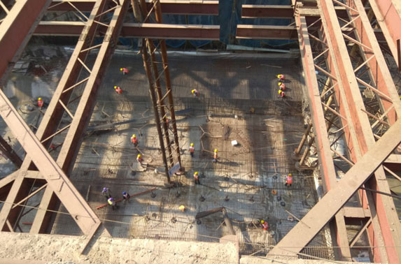 Station Chatrapati Shivaji - Base Slab Pour-05 Reinforcement Works