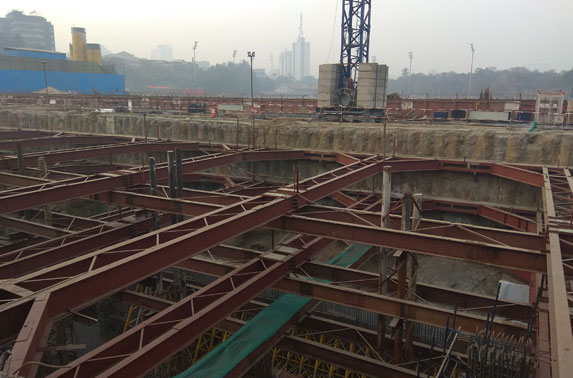 Station Chatrapati Shivaji - Wall and column works