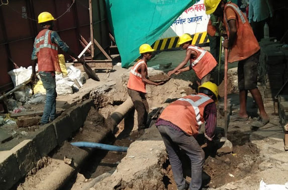 Girgaon Station Phase - 05 Trenching for utility diversion