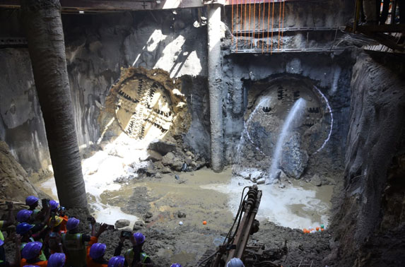 With this feat MMRC achieves 35% of total work completion which includes 18Kms of tunneling.