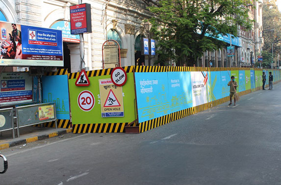 Barricade at DN Road