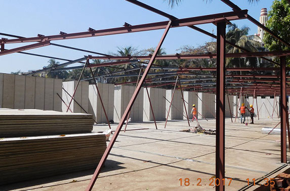 Contractor's project office under construction