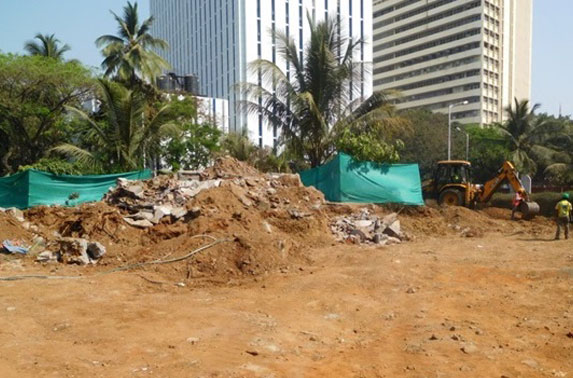 Creating work front to commence piling at Vidhan Bhavan Station