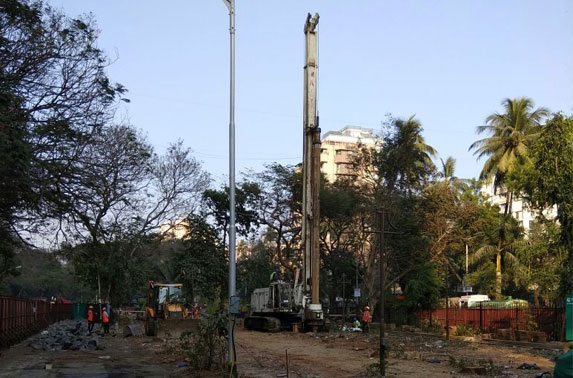 Preparaton for commencement of piling work at Cuffe Parade