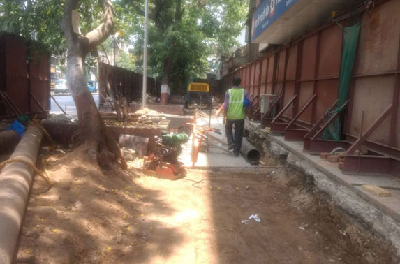 Dadar & Shitladevi road works
