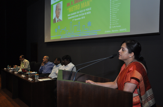 Mrs. Ashwini Bhide, MD MMRC addressing at the occasion