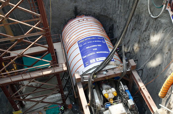 The TBM will bore the tunnel from Pali Ground, Marol to CSIA-T2