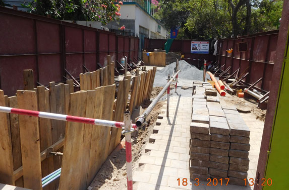 Isolating public from Trial Trenches to ensure safety