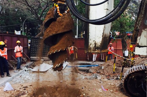 Comencement of piling at Launching Shaft
