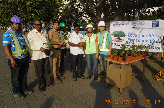 Package - 1 Project team distributed saplings to the public under Project Neighbourhood