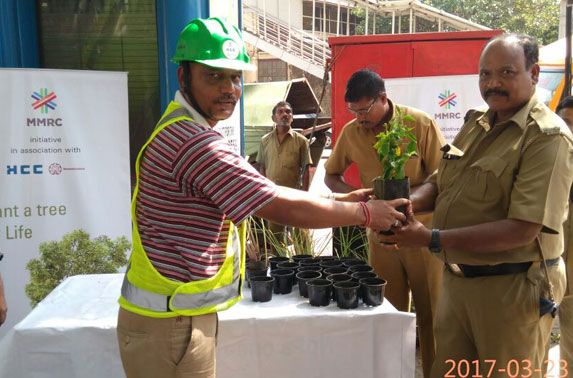 Package - 2 Project team distributed saplings to the public under Project Neighbourhood