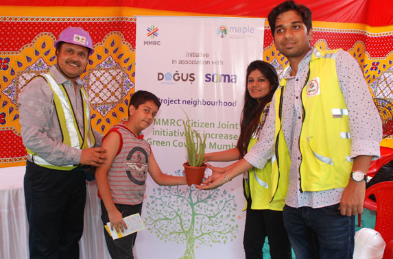 Package - 3 Project team distributed saplings to the public under Project Neighbourhood