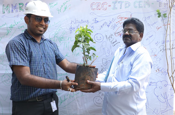 Package - 4 Project team distributed saplings to the public under Project Neighbourhood