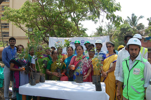 Package - 5 Project team distributed saplings to the public under Project Neighbourhood