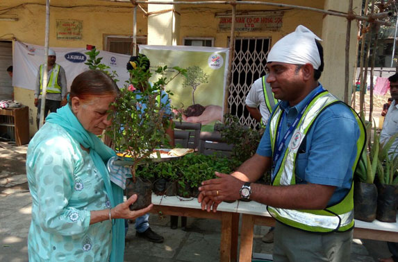 Package - 6 Project team distributed saplings to the public under Project Neighbourhood
