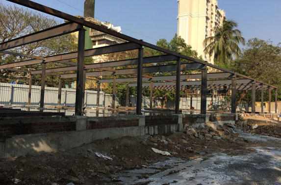 PCC Flooring Completed & GF Bracing Fixing work in progress 99/329 Erected at Mid Shaft area (Pali Ground)
