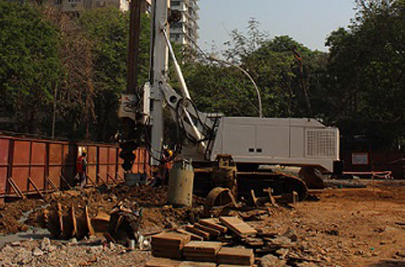 Piling at TBM Launch Shaft location