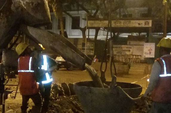 Primary Pile P-39 in Progress at Mid Shaft area (Pali Ground)